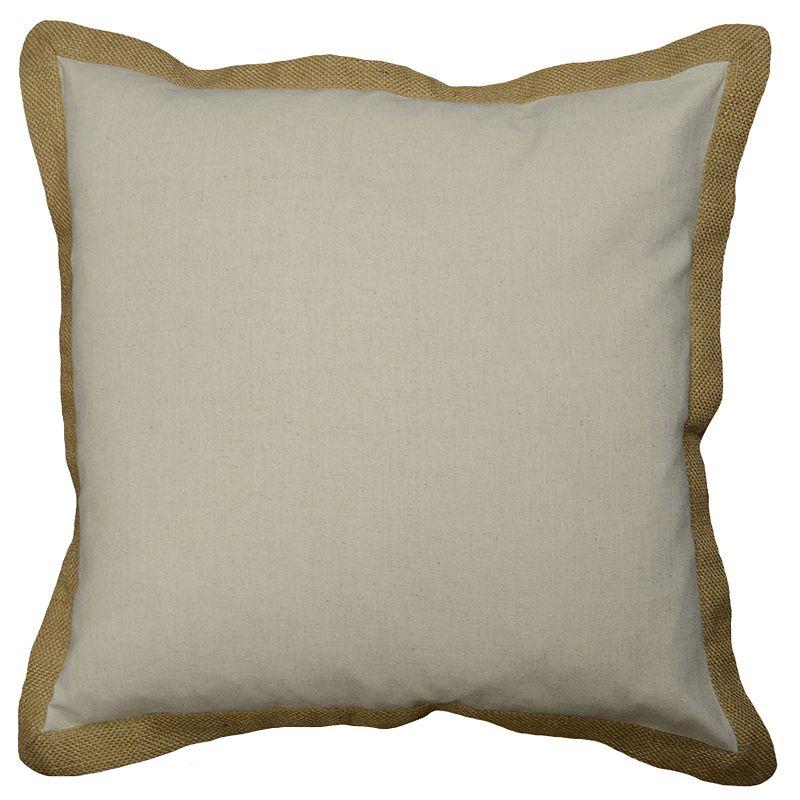 Spencer Jute Trim Throw Pillow