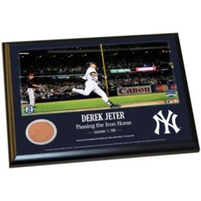 "Steiner Sports New York Yankees Derek Jeter Moments Passing Gehrig 8"" x 10"" Plaque with Authentic Field Dirt"