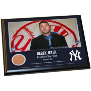 """Steiner Sports New York Yankees Derek Jeter Moments 1996 Rookie of the Year 8"""" x 10"""" Plaque with Authentic Field Dirt"""