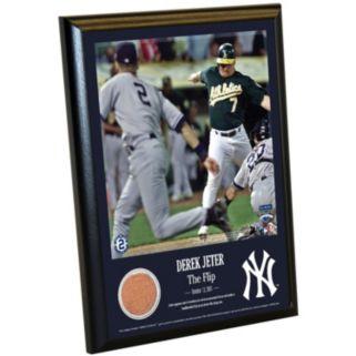 "Steiner Sports New York Yankees Derek Jeter Moments The Flip 8"" x 10"" Plaque with Authentic Field Dirt"