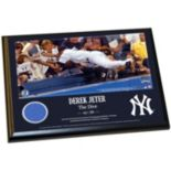"Steiner Sports New York Yankees Derek Jeter Moments The Dive 8"" x 10"" Plaque with Authentic Wall Panel Swatch"