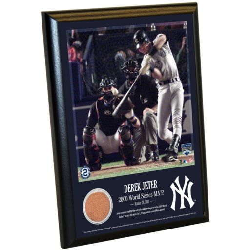 "Steiner Sports New York Yankees Derek Jeter Moments 2000 World Series MVP 8"" x 10"" Plaque with Authentic Field Dirt"