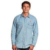 Men's Antigua New England Revolution Chambray Button-Down Shirt