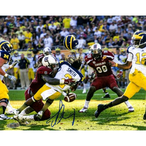 "Steiner Sports South Carolina Gamecocks Jedeveon Clowney Hit vs. Michigan 8"" x 10"" Signed Photo"