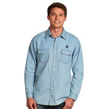Men's Antigua Vancouver Whitecaps Chambray Button-Down Shirt