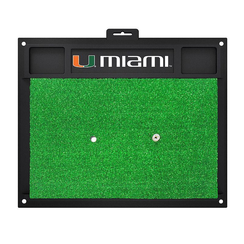 Fanmats Miami Hurricanes Golf Hitting Mat (Green)