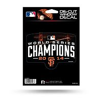 San Francisco Giants 2014 World Series Champions Die-Cut Decal