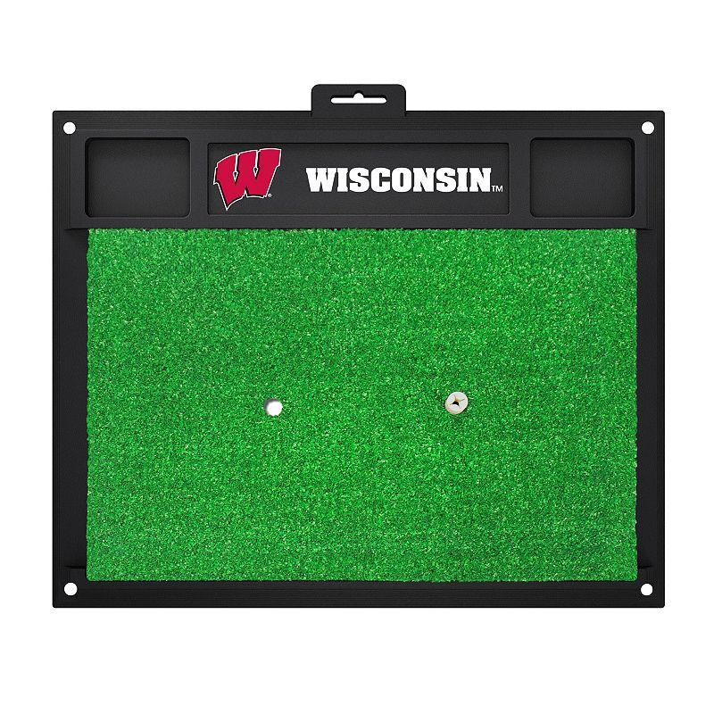 Fanmats Wisconsin Badgers Golf Hitting Mat (Green)