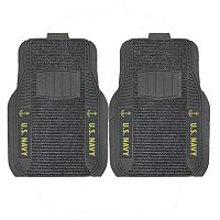 FANMATS 2-pk. US Navy Deluxe Car Floor Mats