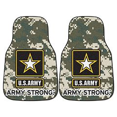 FANMATS 2-pk. US Army Carpeted Car Floor Mats