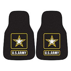 FANMATS 2 pkUS Army Carpeted Car Floor Mats