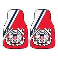 FANMATS 2 pkUS Coast Guard Carpeted Car Floor Mats