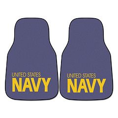 FANMATS 2 pkUS Navy Carpeted Car Floor Mats