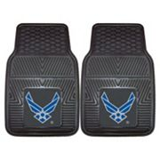 FANMATS 2 pkUS Air Force Vinyl Car Floor Mats
