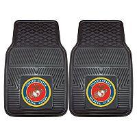 FANMATS 2 pkUS Marine Corps Vinyl Car Floor Mats