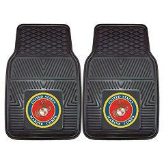 FANMATS 2-pk. US Marine Corps Vinyl Car Floor Mats