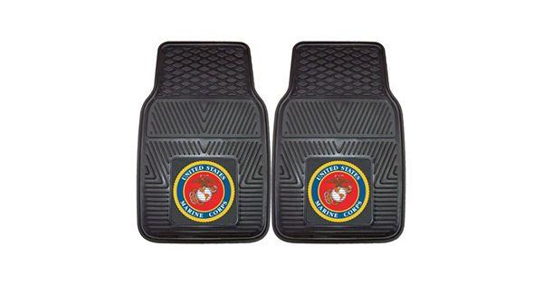 Fanmats 2 Pk Us Marine Corps Vinyl Car Floor Mats