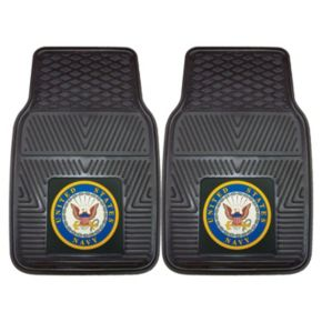 FANMATS 2-pk. US Navy Vinyl Car Floor Mats