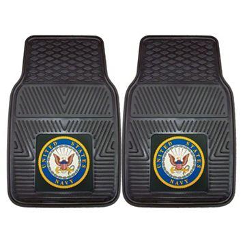 FANMATS 2-pk. US Navy Vinyl Car Floor Mats