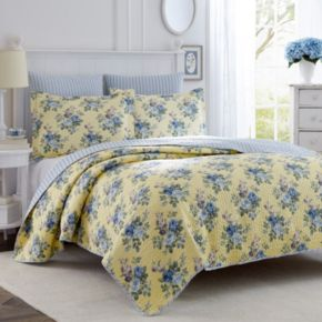 Laura Ashley Lifestyles Linley Floral Quilt Set