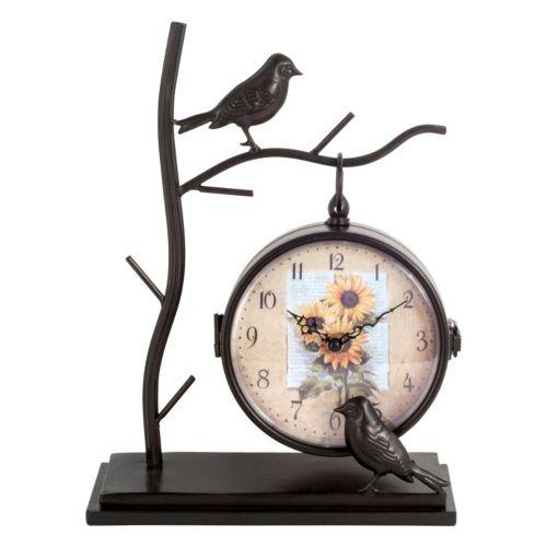 Birds Double-Sided Table Clock