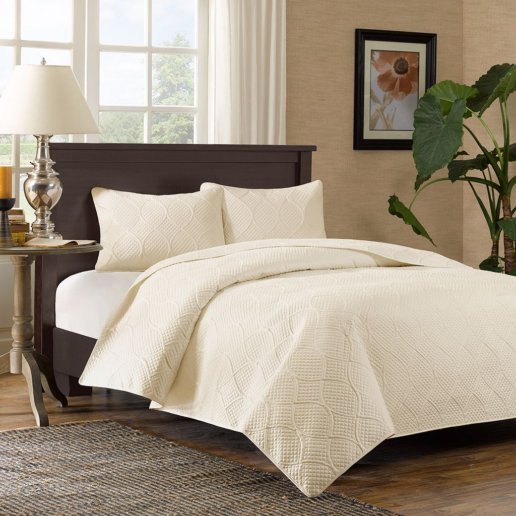 Madison Park Adelle Beige 3-pc. Coverlet Set