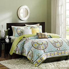 Madison Park Bali 6 pc Quilt Set