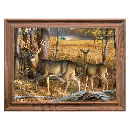 Reflective Art ''Cornfield Companions'' Framed Canvas Wall Art