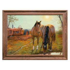 Reflective Art ''Old Farm Hands'' Framed Canvas Wall Art