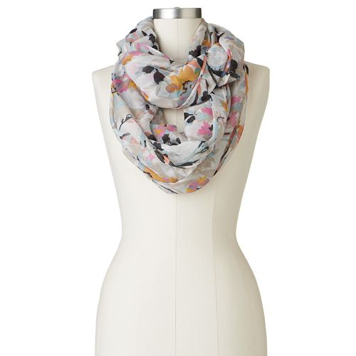 Candie's® Blurred Floral Infinity Scarf