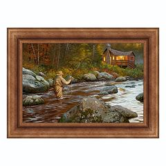 Reflective Art ''Catching a Moment'' Framed Canvas Wall Art