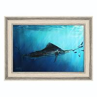 Reflective Art ''Almost Eaten'' Framed Canvas Wall Art