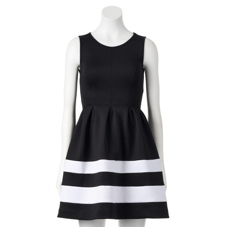 Petite Apt. 9® Fit & Flare Scuba Dress