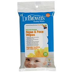 Dr. Brown's 30 pkNose & Face Wipes