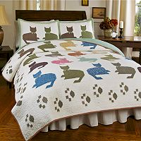 Hedaya Meow 3 pc Reversible Quilt Set