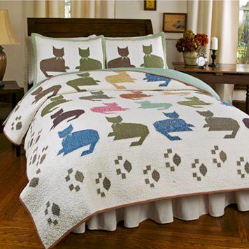 Hedaya Meow 3-pc. Reversible Quilt Set