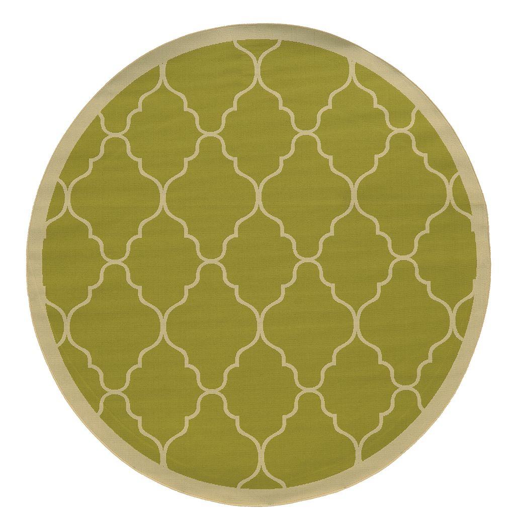 StyleHaven River Geometric Lattice Indoor Outdoor Rug