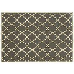 StyleHaven River Geometric Lattice Indoor Outdoor Rug