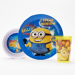 Zak Designs 3 pc Despicable Me 2 Melamine Kid's Place Setting