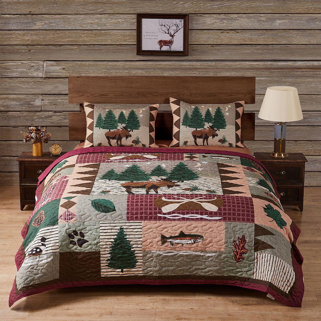 Moose Lodge 3-pc. Reversible Quilt Set
