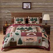 Moose Lodge 3 pc Reversible Quilt Set