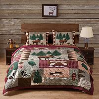 Moose Lodge 3 pc Reversible Quilt Set