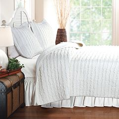 Ruffled Reversible Quilt Set