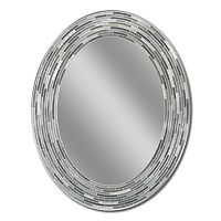 Head West Reeded Oval Wall Mirror