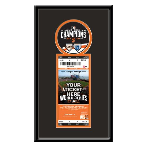 San Francisco Giants 2014 World Series Champions Single Ticket Frame