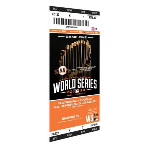 San Francisco Giants 2014 World Series Game 5 Mini-Mega Ticket