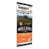 San Francisco Giants 2014 World Series Game 3 Canvas Mega Ticket