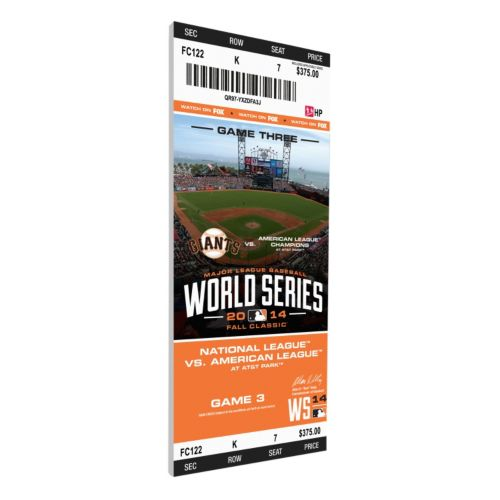 San Francisco Giants 2014 World Series Game 3 Canvas Mega Ticket