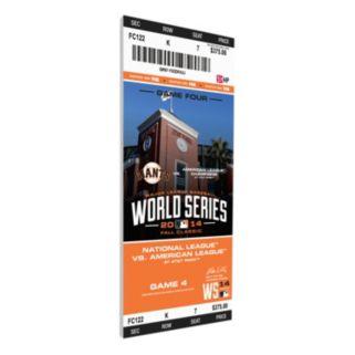 San Francisco Giants 2014 World Series Game 4 Canvas Mega Ticket