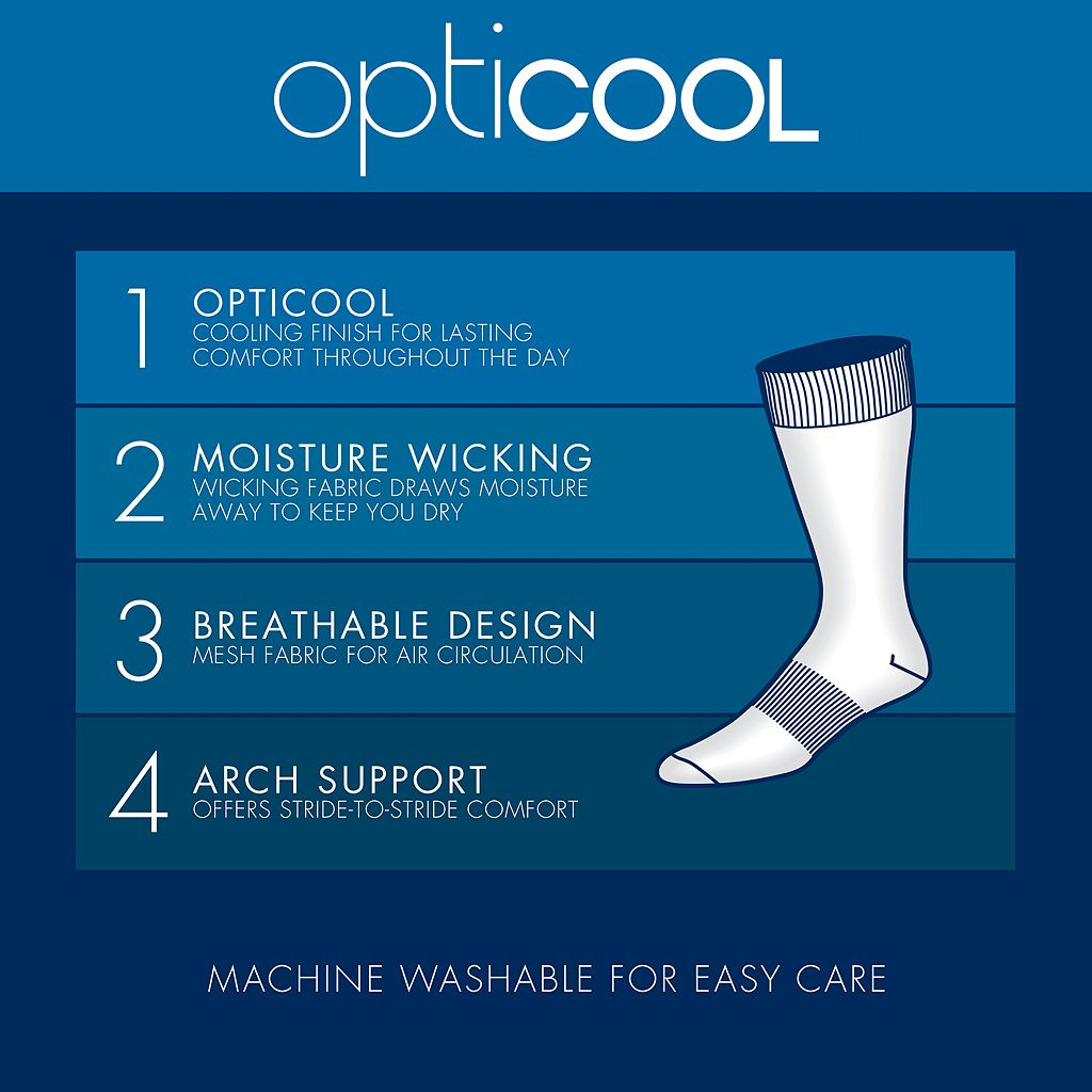 Men's Croft & Barrow® 4-Pack Opticool Striped & Argyle Dress Socks